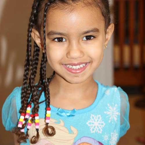 penteado pra cabelo cacheado infantil com tranças