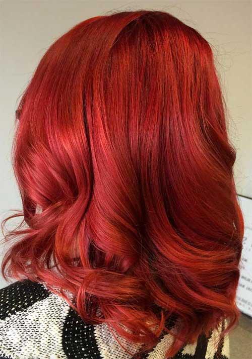 vermelho cereja com ondulado na ponta