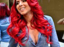 cabelo vermelho intenso