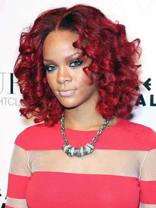 cabelo vermelho da rihanna