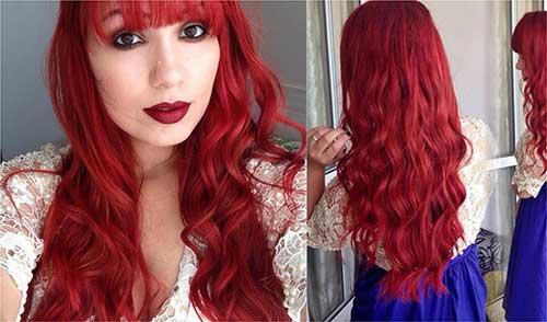 cabelos vermelhos de youtuber