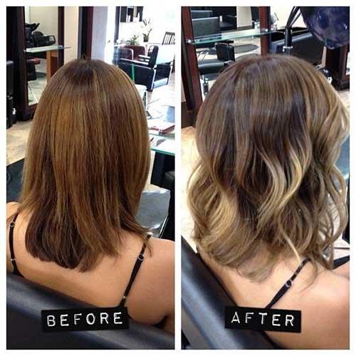 ombre hair em cabelo curto castanho claro