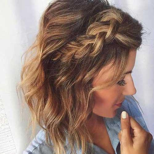 cabelo trançado com as franjas