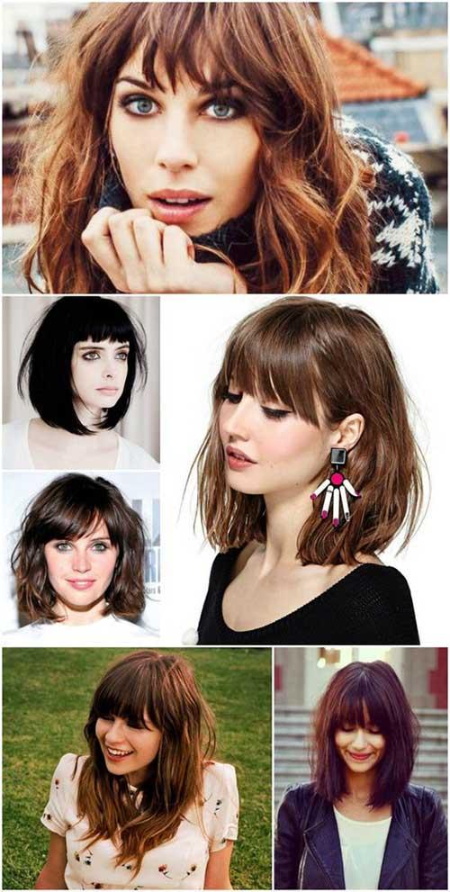 penteado para cabelo medio de franja