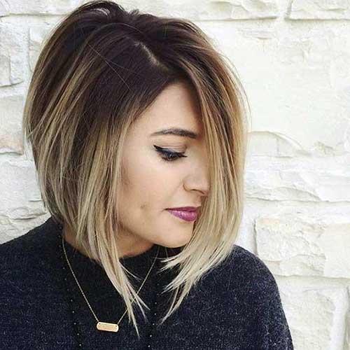 cabelo curto cortado com ombre curto