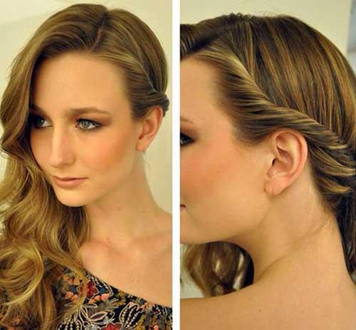 penteado torcido pro lado