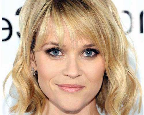 cabelo de atriz com face triangular ao contrario