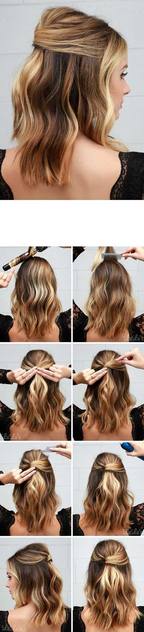 tutorial passo-a-passo pra fazer penteado