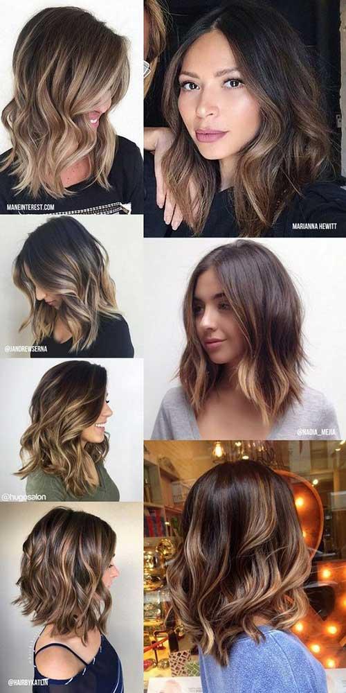 imagens de ombre hair em fios curtos