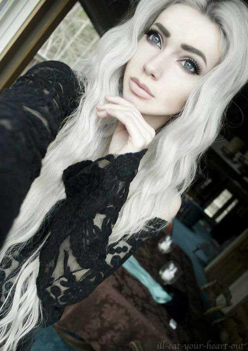 cabelo platinado ja na cor branca em morena