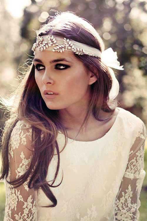 penteado precioso com tiara