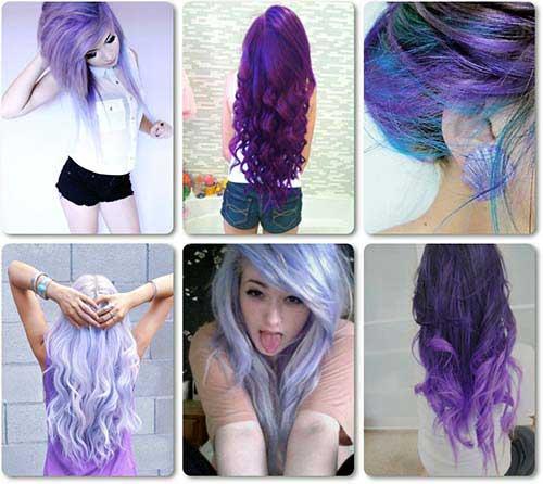 madeixas roxas para mulheres que pintam o cabelo
