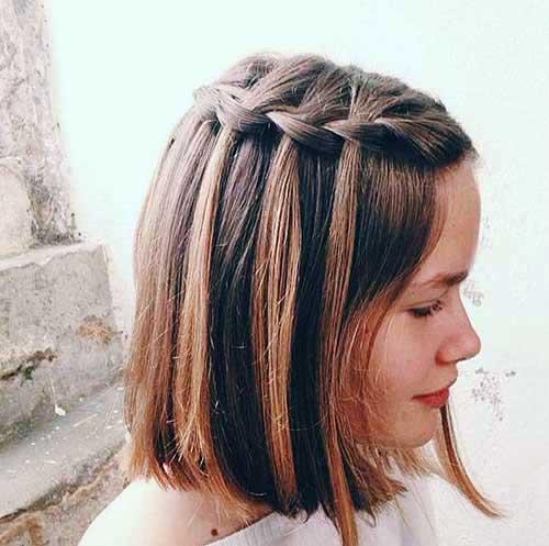 cabelo curto com tranças