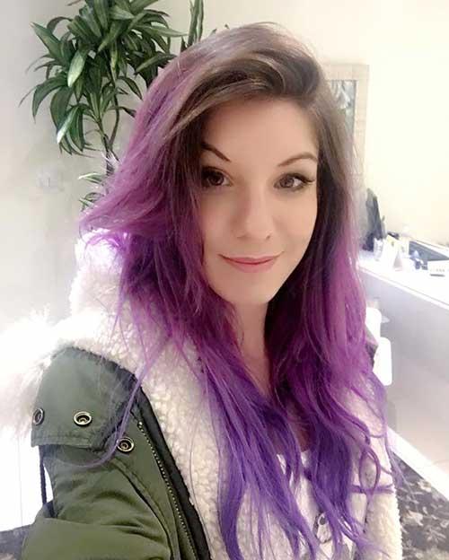 cabelo roxo da marimoon