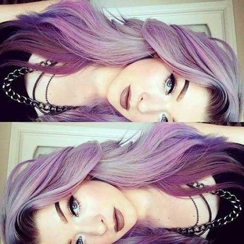 nuances especiais de cabelo roxo