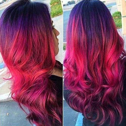 cabelo liso com duas cores diferentes