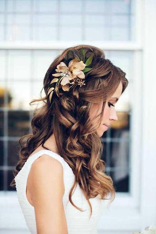penteado enfeitado florido