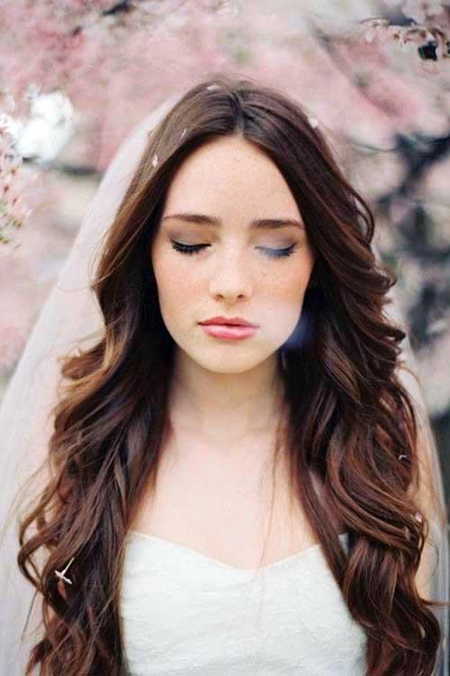 cabelo solto para noivas de veu