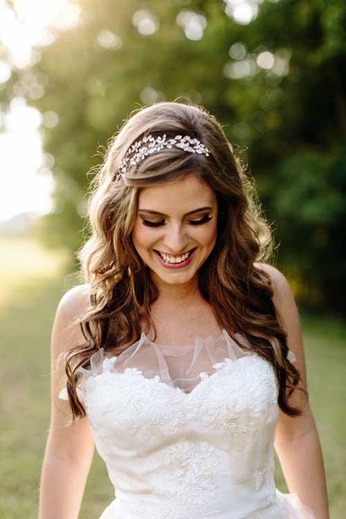 madeixas com tiara para noiva