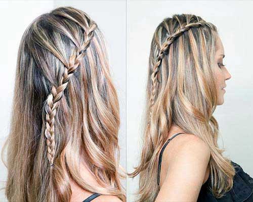 tranca bonita em cabelo longo