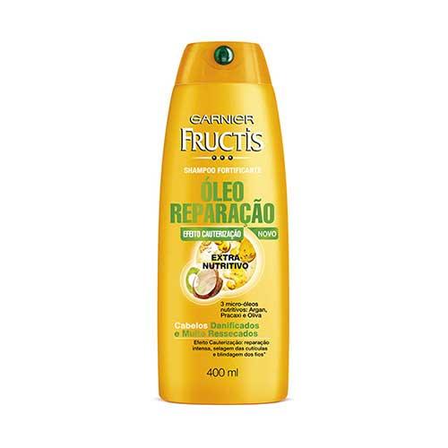 oleo reparacao em cabelo seco