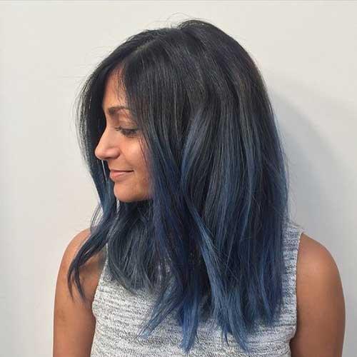 iluminado azul liso