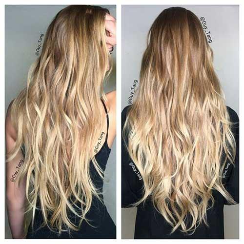 cabelos com californianas cor de ouro