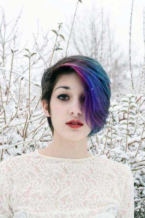 cabelos multicoloridos