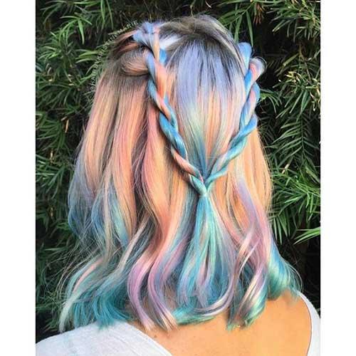 cabelos de varias cores