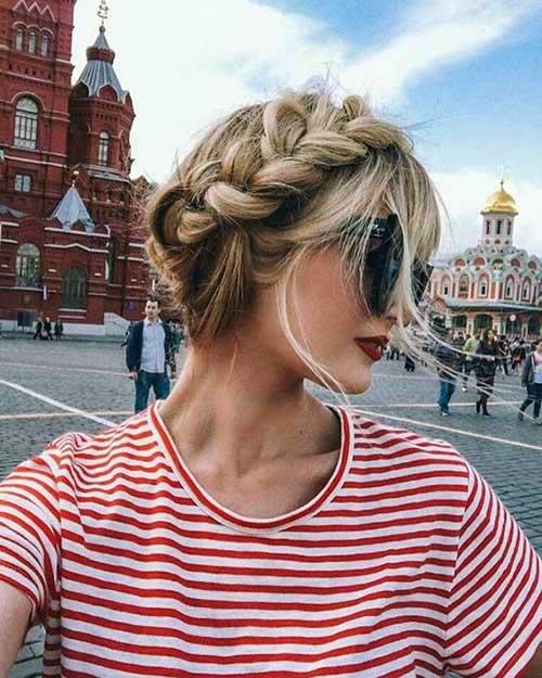 penteado de coroa trançada