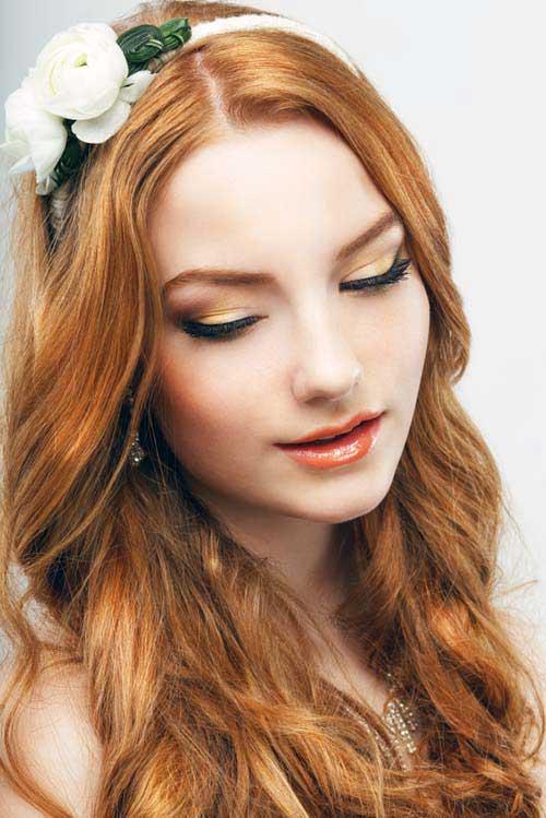 cabelos avermelhados rubros