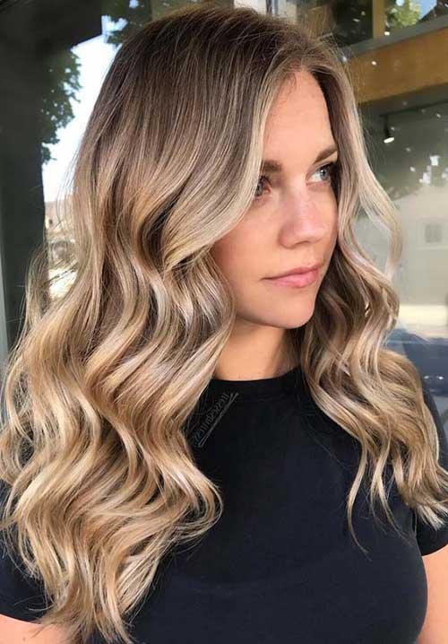 foto de cabelo ombre loiro cor de ouro