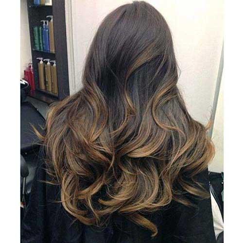 cabelos marrons com iluminacao ideal