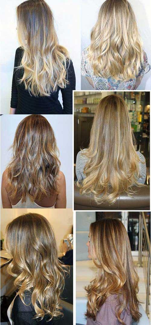 cabelos especiais e compridos iluminados