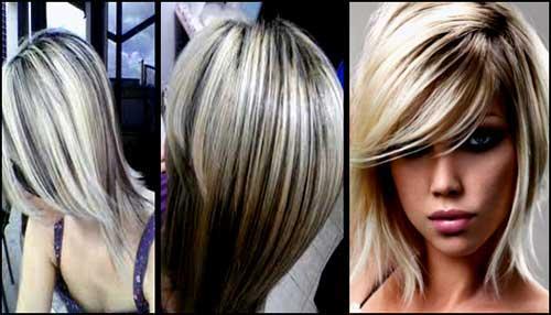 cabelos com mechas ao contrario