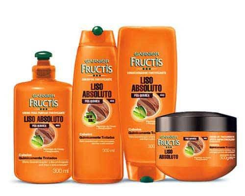 shampoo liso absoluto pra cabelo com escova