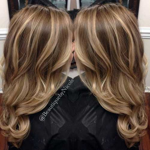loiro natural de mechas