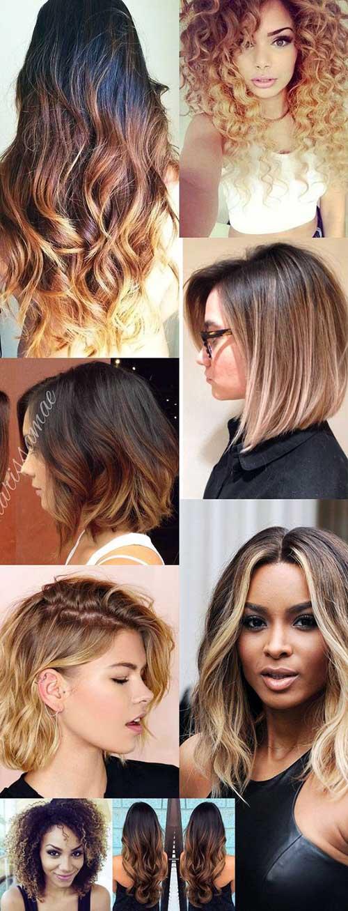 cabelos diferentes com pontas loiras