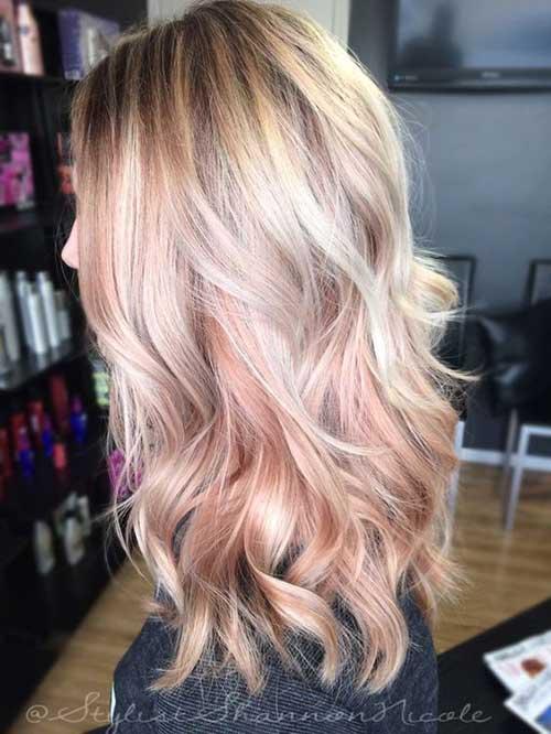 cabelo loiro e rosa