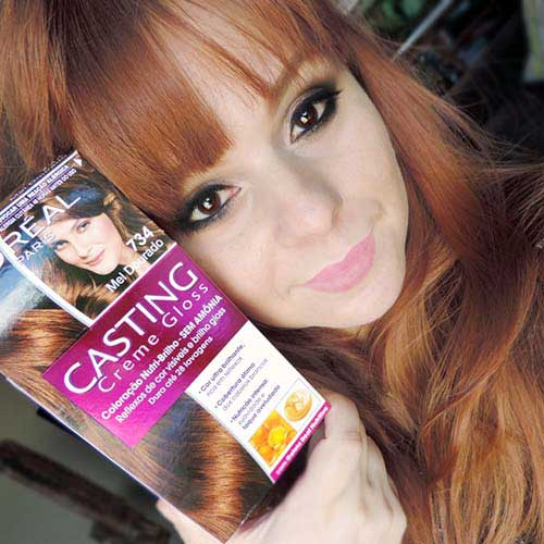 cabelos casting vermelhos