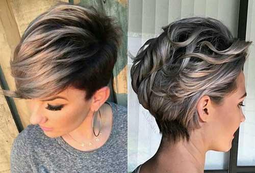 cabelo curto pixie com luzes