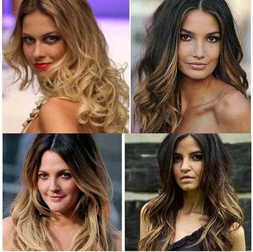 cabelo medio iluminado de famosas