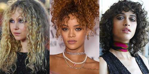 modelos com cabelo e franja cacheada para disfarçar testa grande