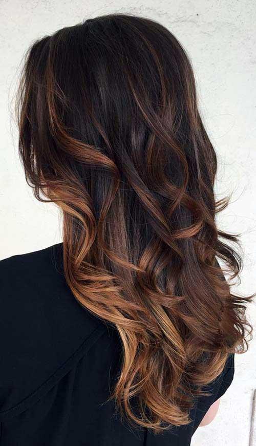 ombre hair em cabelo castanho escuro quase preto