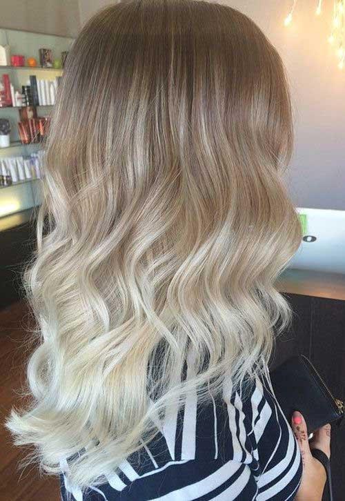 ombre hair prateado