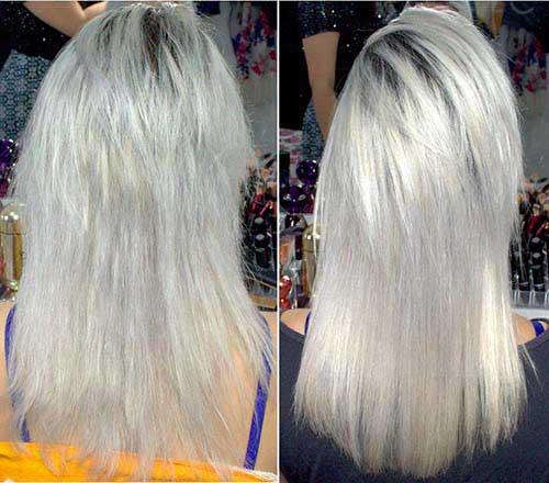 cabelo loiro recuperado com tratamento natural