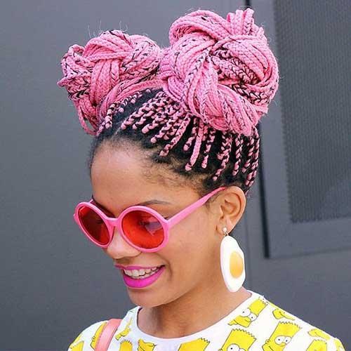 penteados para trancas africanas pintadas