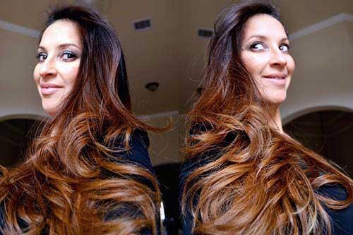 cabelos acobreados