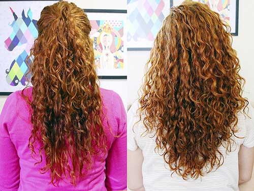 cabelos cacheados antes e depois
