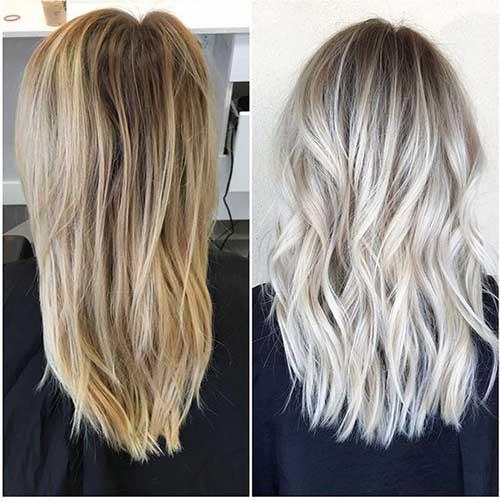 cabelos com luzes platinadas especiais